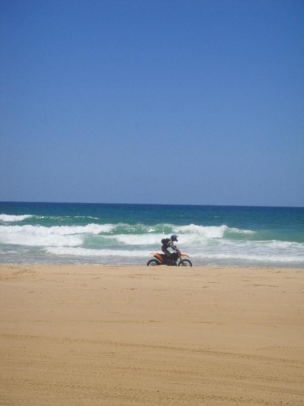Motor cross on Seventy Five Mile Beach, Hervey Bay Australia
