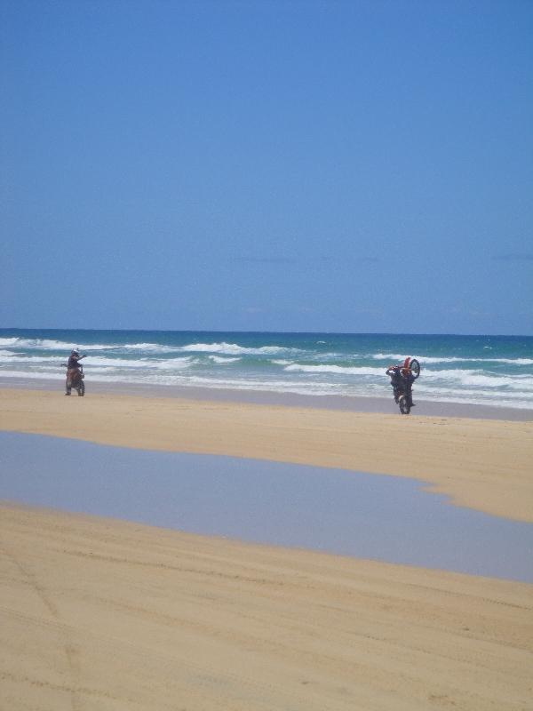 Motor cross at Fraser Island, Hervey Bay Australia