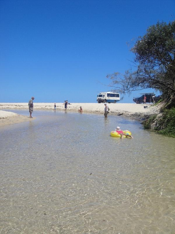 The transparant water of Eli Creek, Hervey Bay Australia