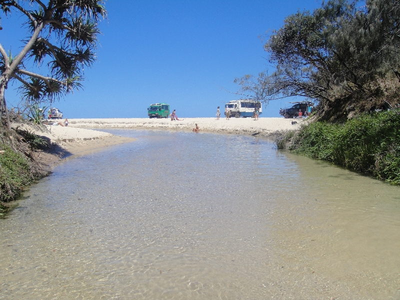 Pictures of Eli Creek on Fraser Island, Hervey Bay Australia