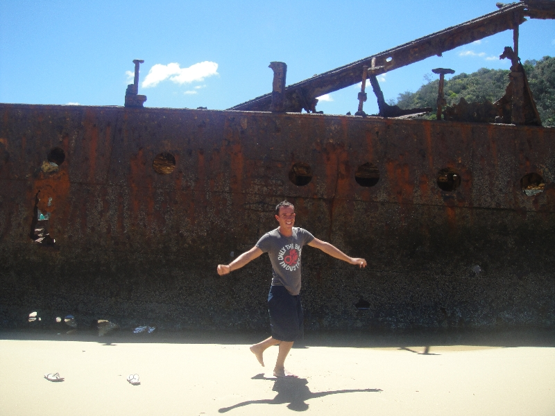 Moheno Shipwreck on Fraser beach, Australia
