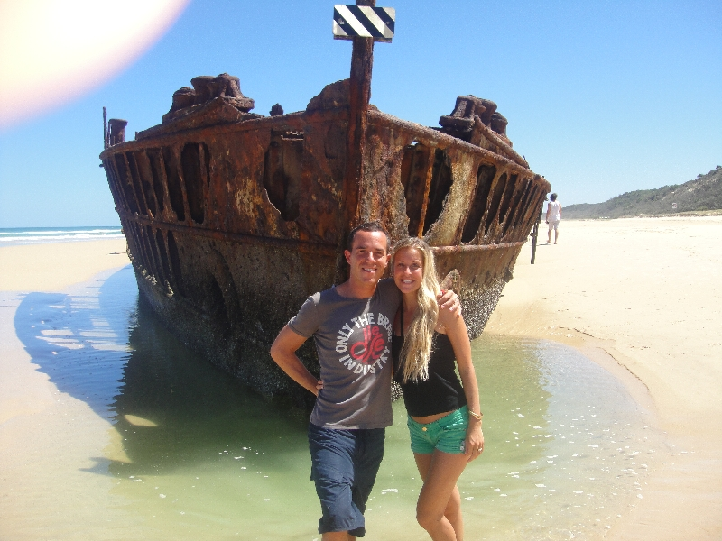 Moheno shipwreck on Seventy- Five Mile beach, Hervey Bay Australia