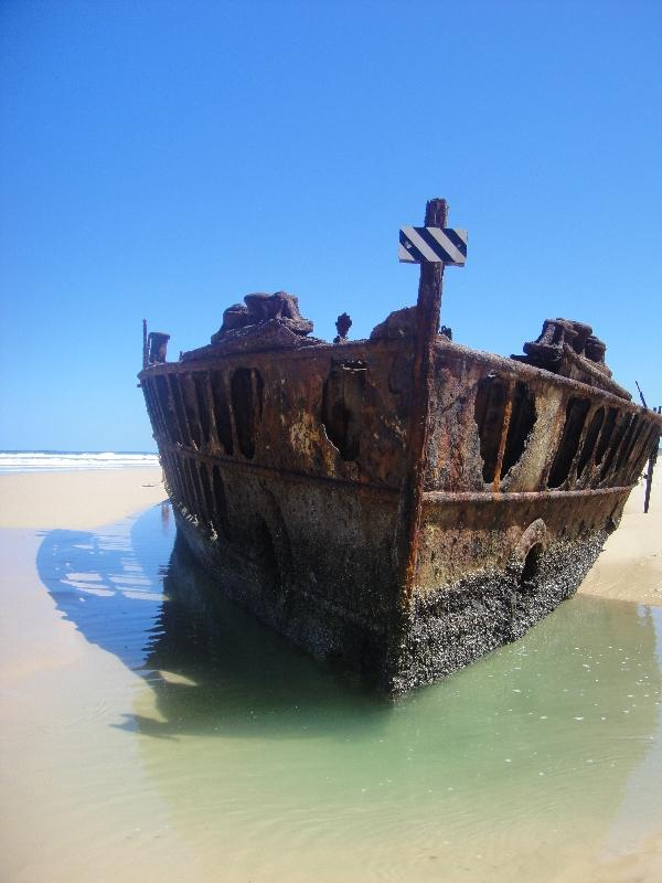 The remains of the Moheno on Fraser, Hervey Bay Australia