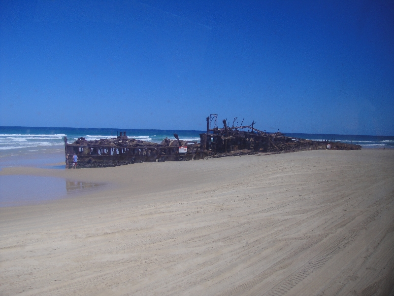 The beach around Moheno shipwreck, Australia