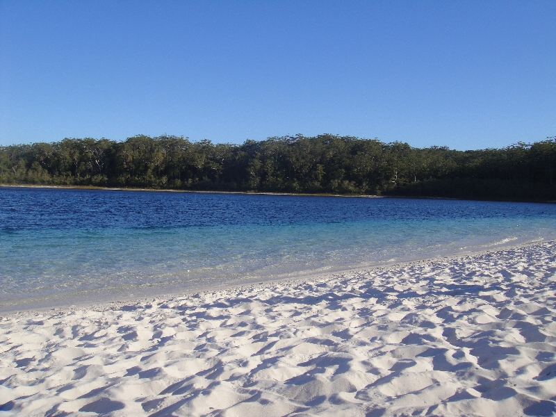 Lake McKenzie freshwater pool, Hervey Bay Australia