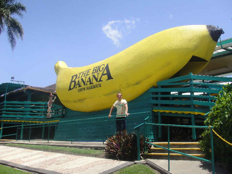 The Big Banana Symbol of Coffs, Australia