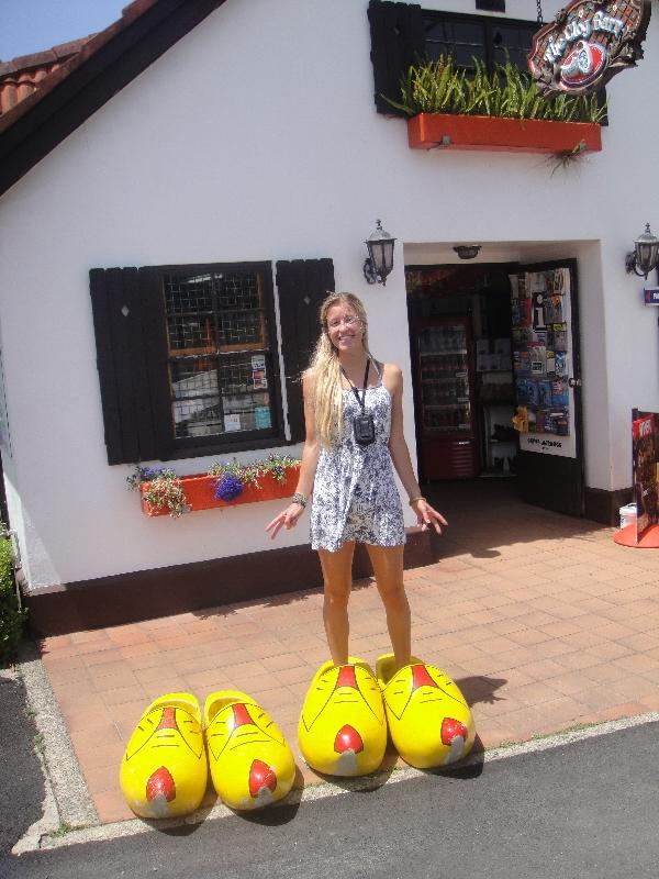 Wearing the dutch clogs in Australia, Coffs Harbour Australia