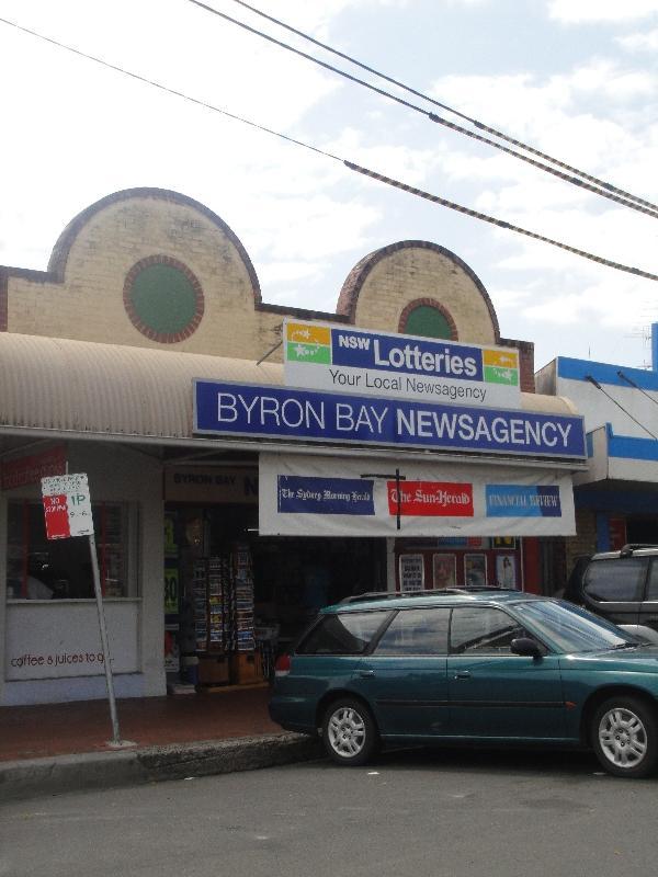Street panorama Byron Bay, Australia