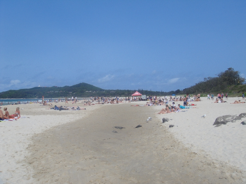 The beach in Byron Bay, Australia