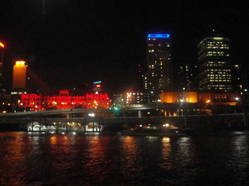 Panorama from the Brisbane dinner cruise, Australia