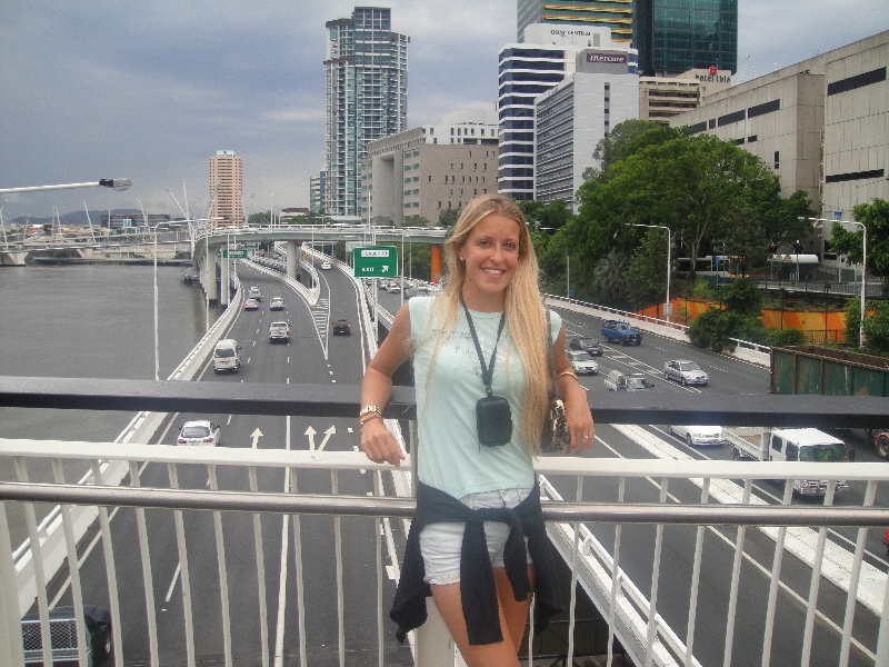 On the Victoria Bridge, Australia