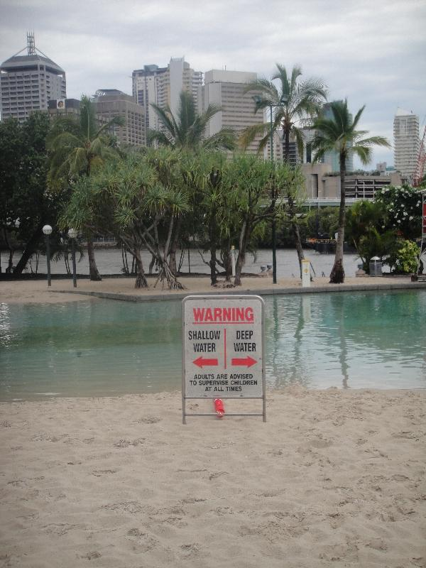 The South Bank Parklands beach, Brisbane Australia