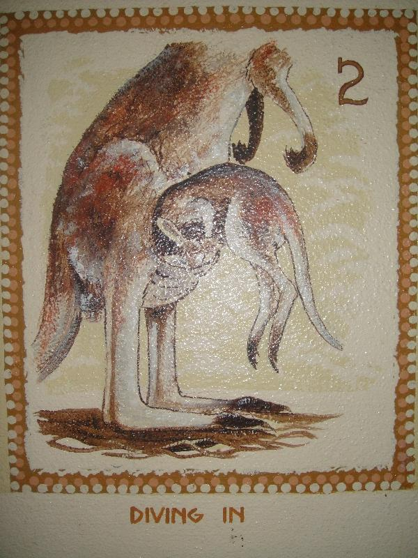 Joey Kangaroo educational signs, Australia