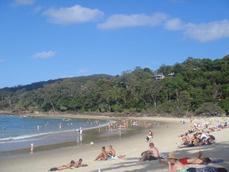 The surf beaches of Noosa Heads Australia Travel Pictures