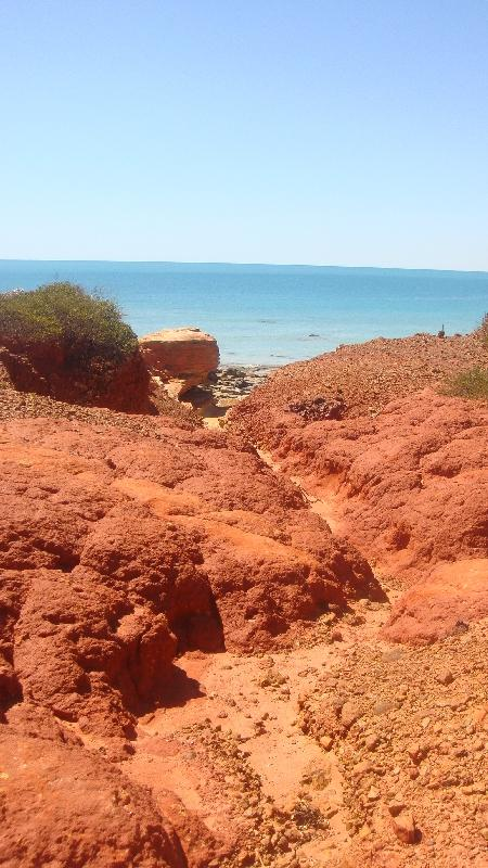 The coastal cliffs at Gantheaume, Broome Australia