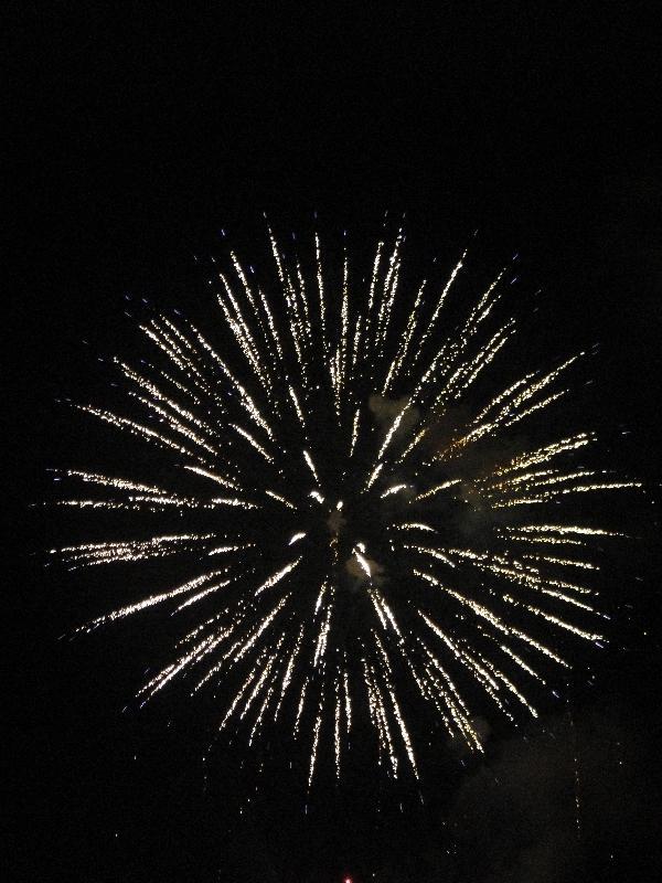 Christmas fireworks in Rockhampton, Australia