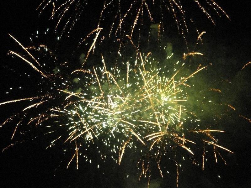 Amazing fireworks show in Rocky, Australia