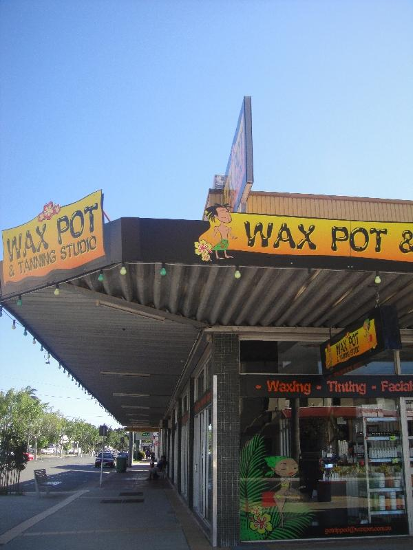 Mackay town street panorama, Australia