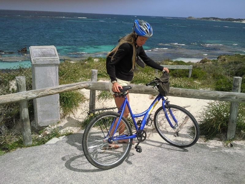 Biking to the beach, Australia