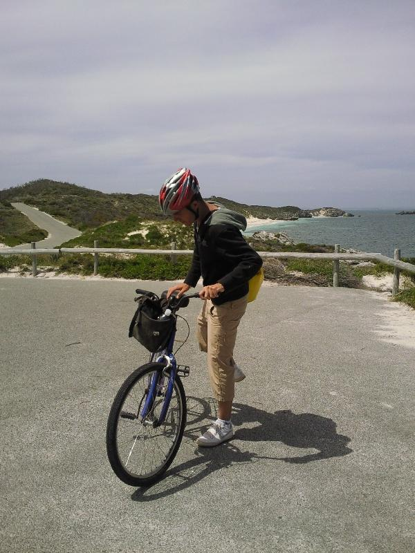 Ready to bike, Rottnest Island Australia