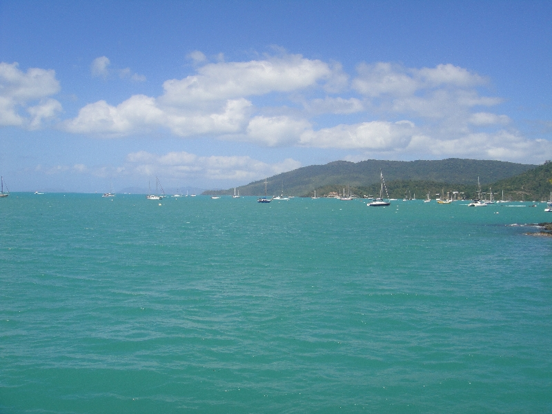 Whitsunday waters panorama, Airlie Beach Australia