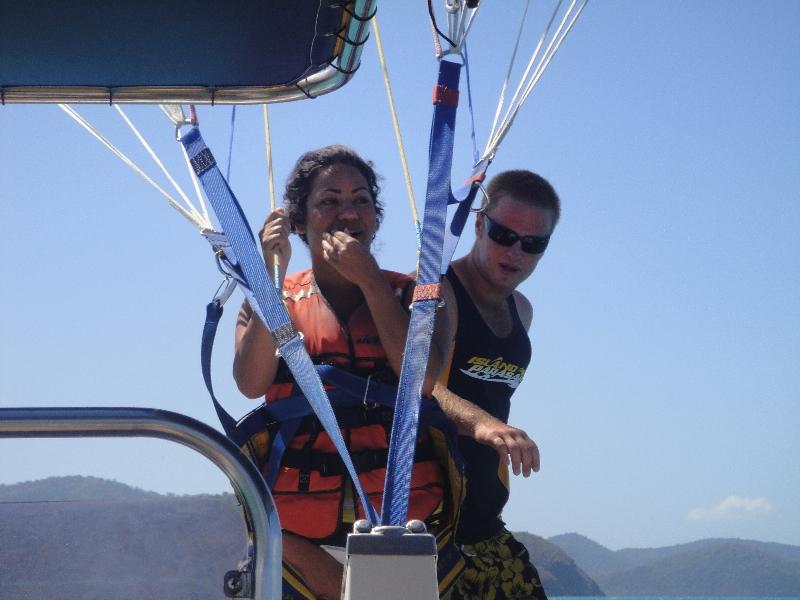 Tandem parasailing in Airlie Beach, Australia