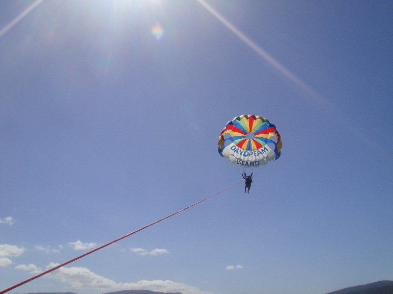 Parasailing the Whitsundays, Airlie Beach Australia