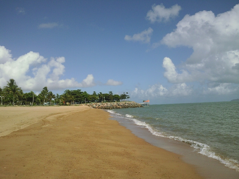 Townsville beach at The Strand, Australia