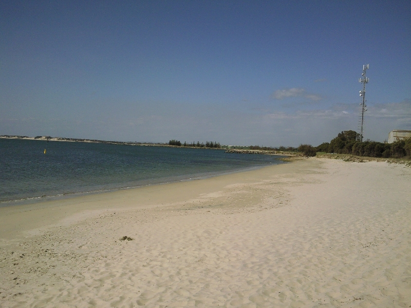 The beach in Rockingham in WA, Australia
