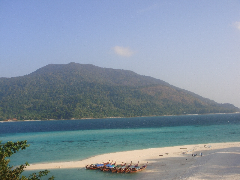 The beach from in front of Mountain Resort, Ko Lipe Thailand
