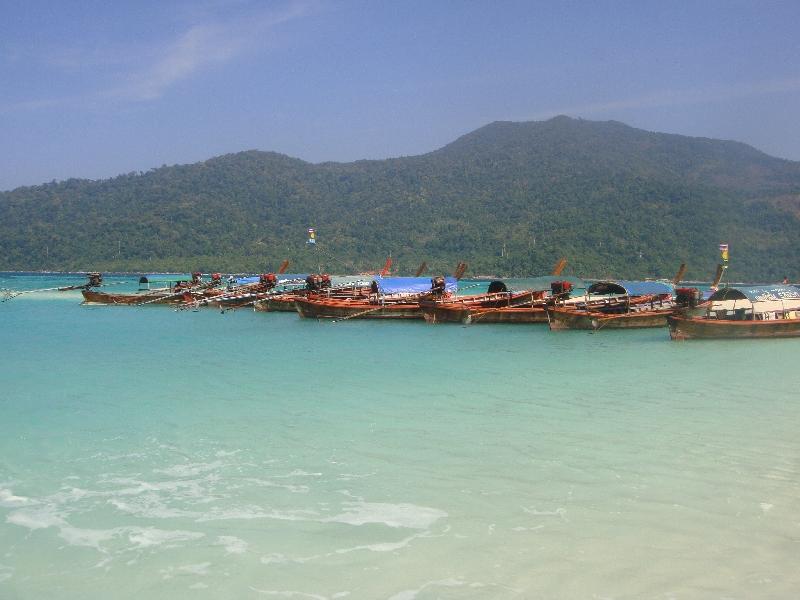 Taxi boats in Ko Lipe, Thailand