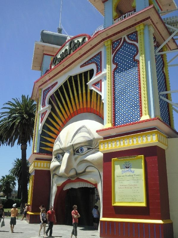 The St Kilda Luna Park in Melbourne, Australia