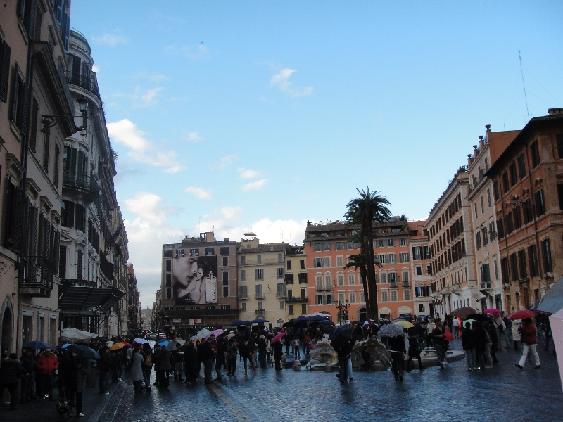 Piazza di Spagne in Winter Time, Rome Italy