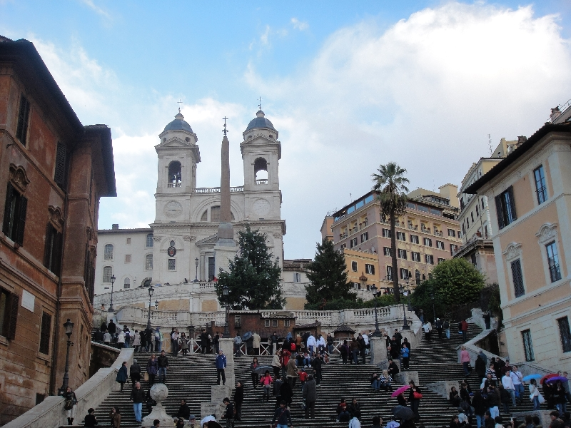 The church on Piazza di Spagna, Italy