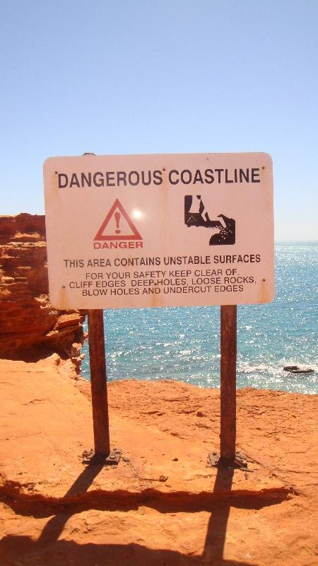 Amazing coastline in Broome, WA, Australia