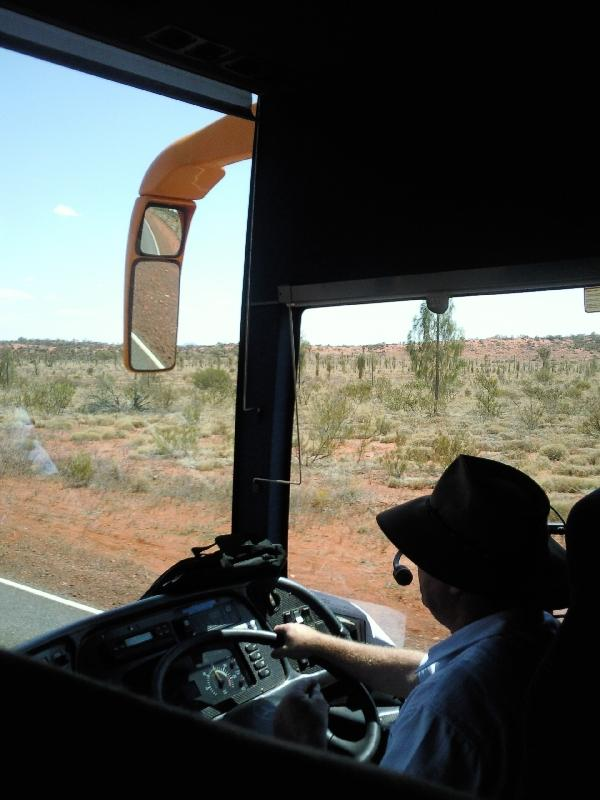Shuttle from Yulara Airport to the resort, Ayers Rock Australia