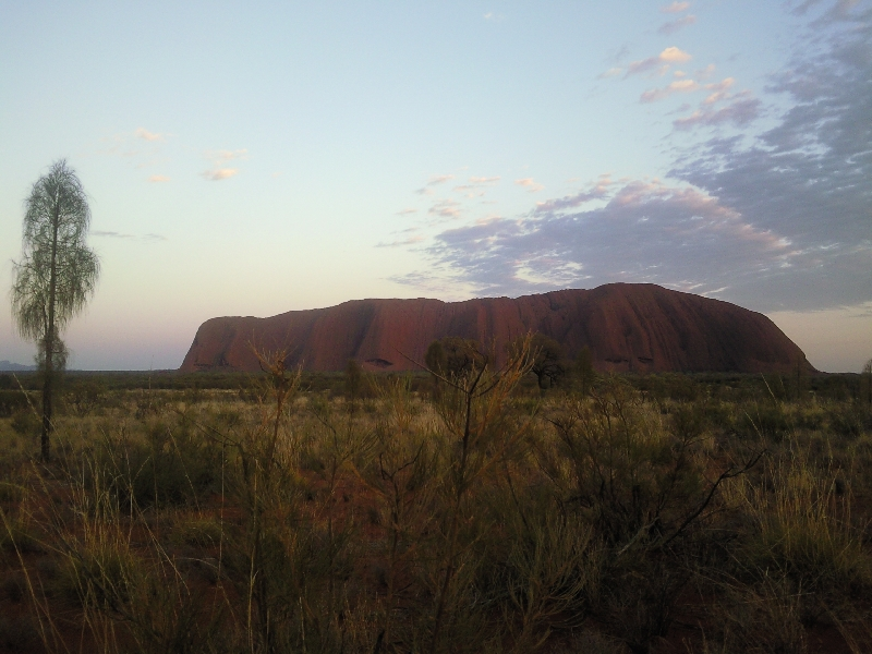 Sunset over Ayers Rock, Ayers Rock Australia