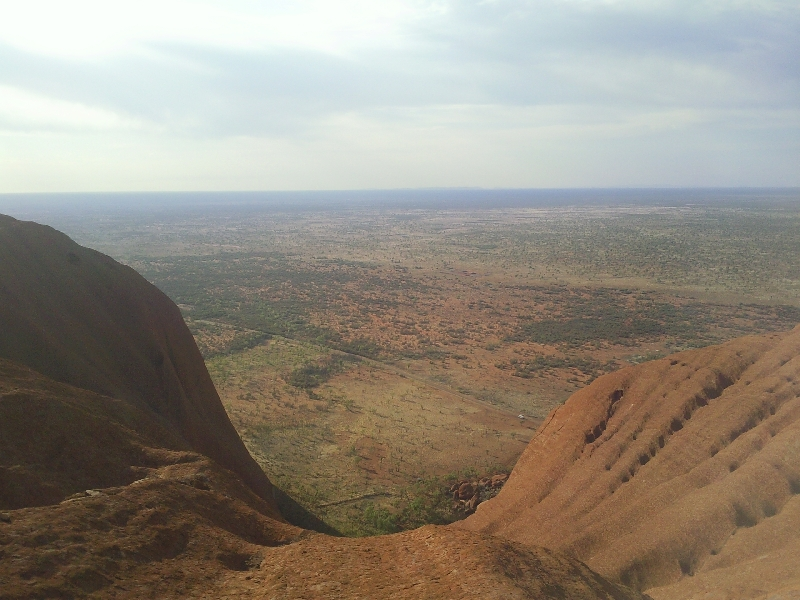 Climbing Uluru, Ayers Rock Australia