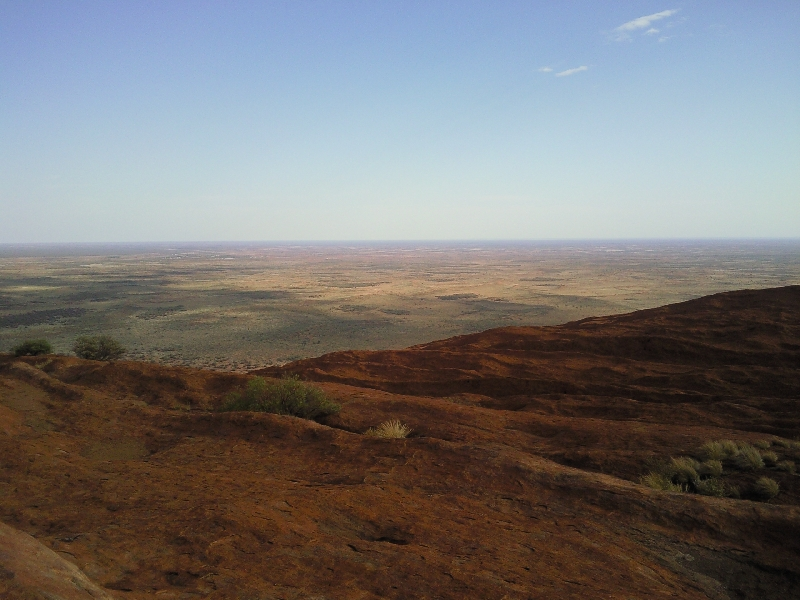 Panorama pictures taken on Uluru, Ayers Rock Australia