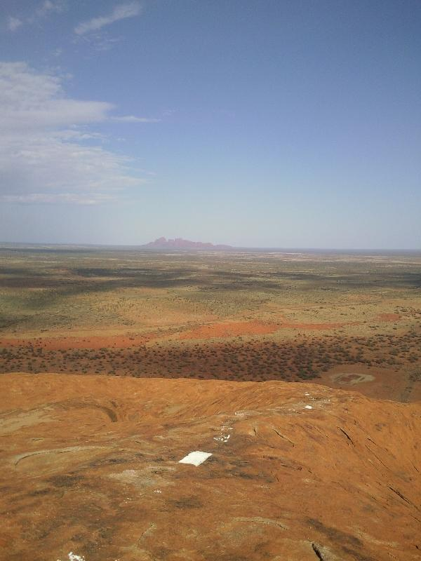 Looking out over Ayers Rock, Ayers Rock Australia