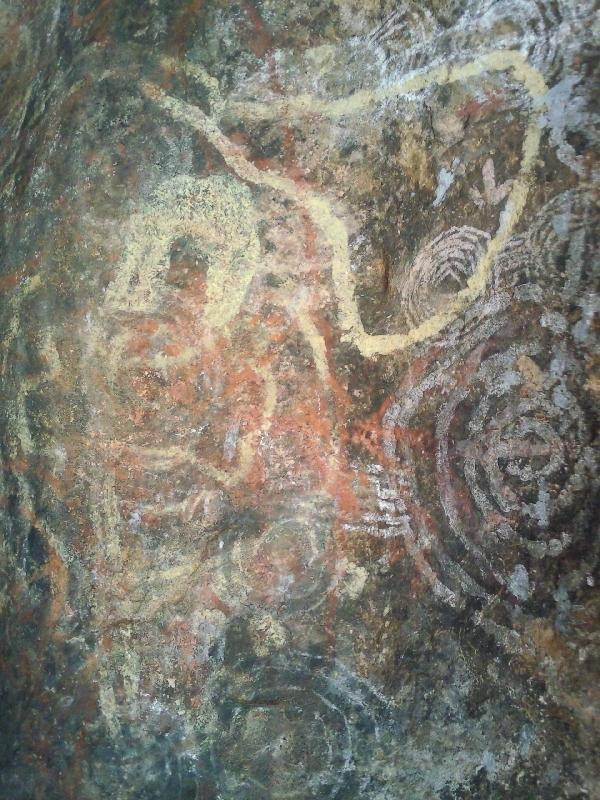 Aboriginal Rock Art at Ayers Rock, Australia