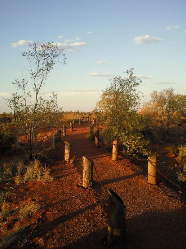 Ayers Rock Australia The path leading to the dining area