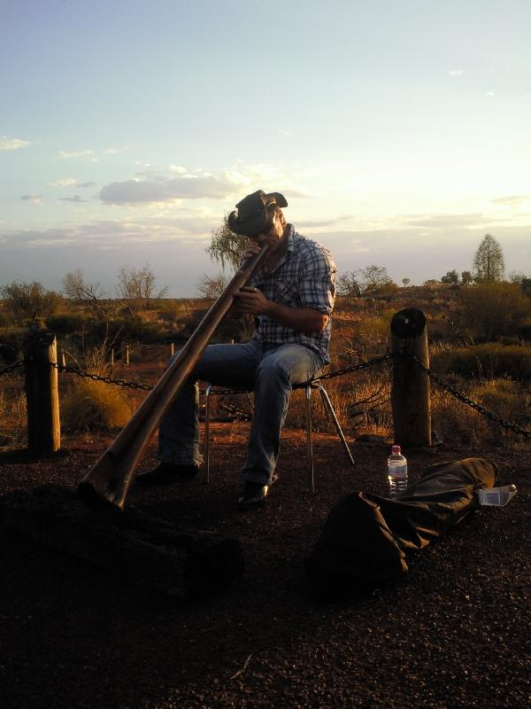 Didgeridoo player at Ayers Rock, Ayers Rock Australia