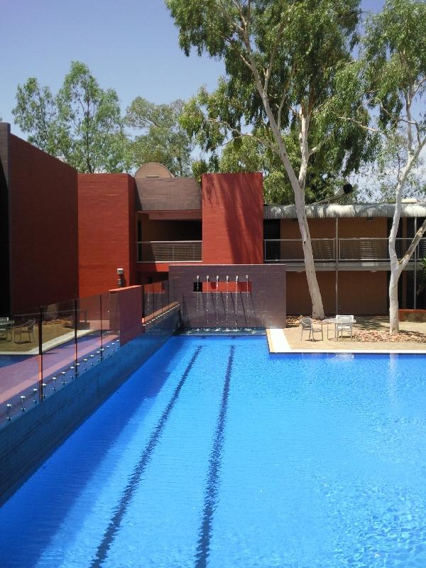 Hotel pool at The Lost Camel, Ayers Rock Australia