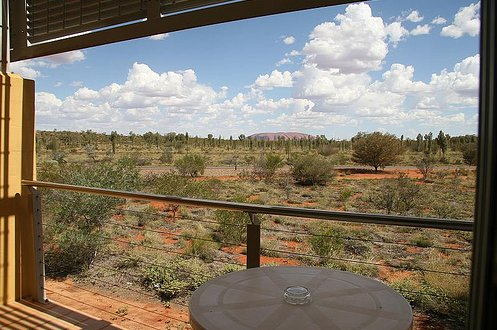 Balcony overlooking Uluru at Desert Gardens Ayers Rock