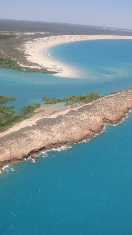 Helicopter flight over Willie Creek, Broome, Australia