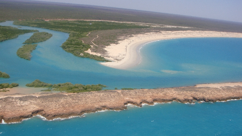 Scenic flight over Willie Creek , Broome Australia