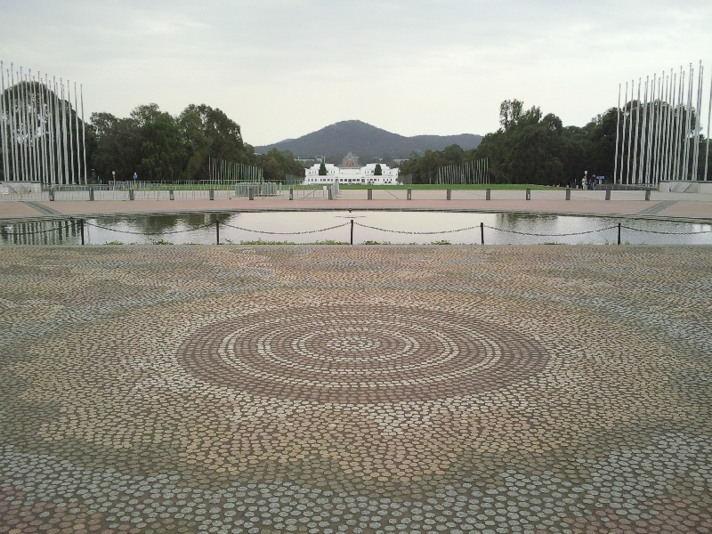 In front of the New Parliament House, Canberra Australia