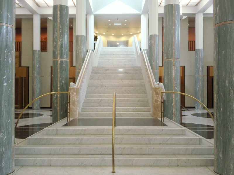Stairs up the Parliament House, Australia