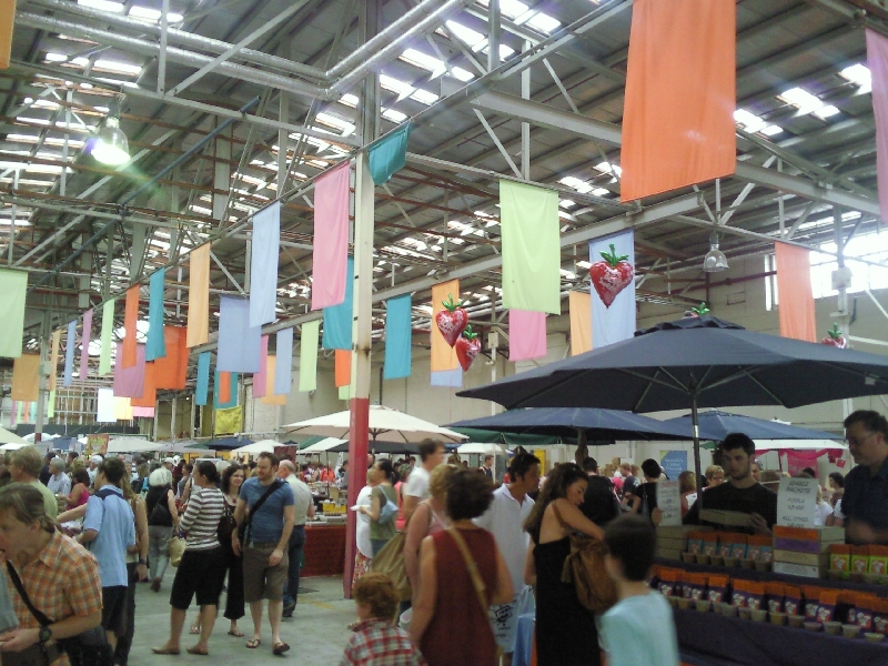 At the Old Bus Depot Market in Canberra, Australia